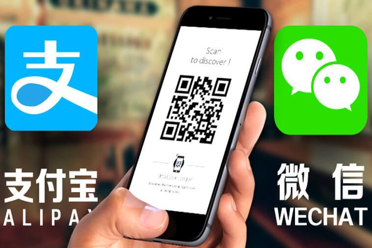 Thanh toán di động Alipay hoặc Wechat Pay dần dần thay thế tiền mặt